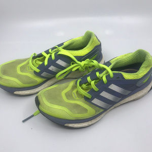 Adidas Boost Lime Green and Gray Sneakers Size 6.5